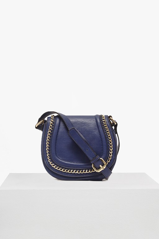 Complete the Look Alexa Faux Leather Saddle Bag