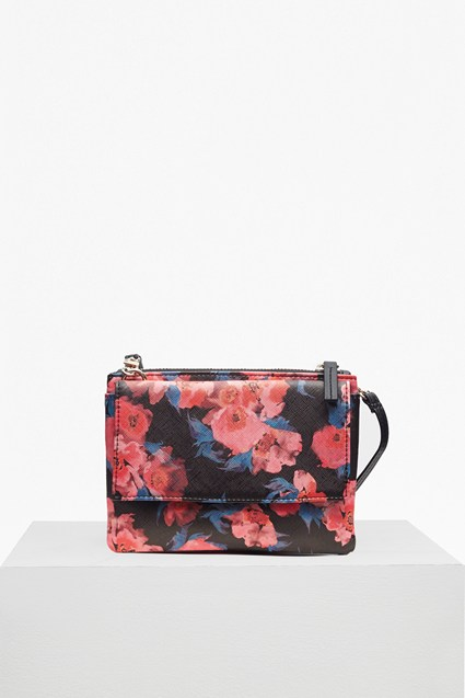 Printed Saffiano Mini Trio Bag
