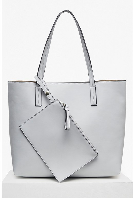 Core Faux Leather Shopper Bag