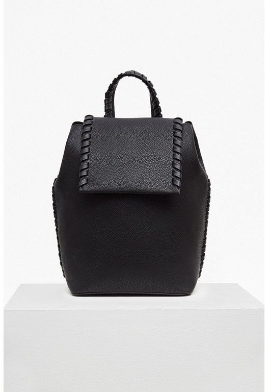 Whipstitch Faux Leather Backpack