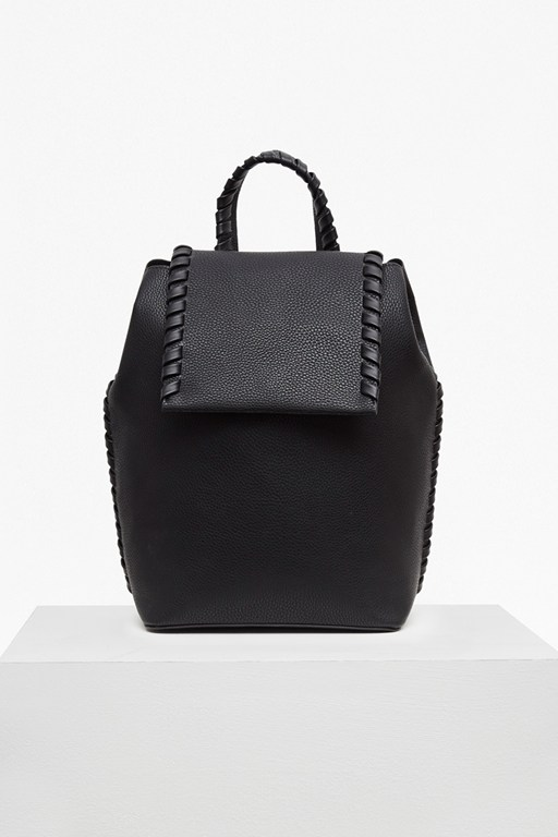 Complete the Look Whipstitch Grain Textured Backpack