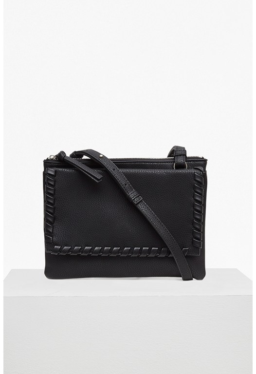 Whipstitch Faux Leather Trio Bag