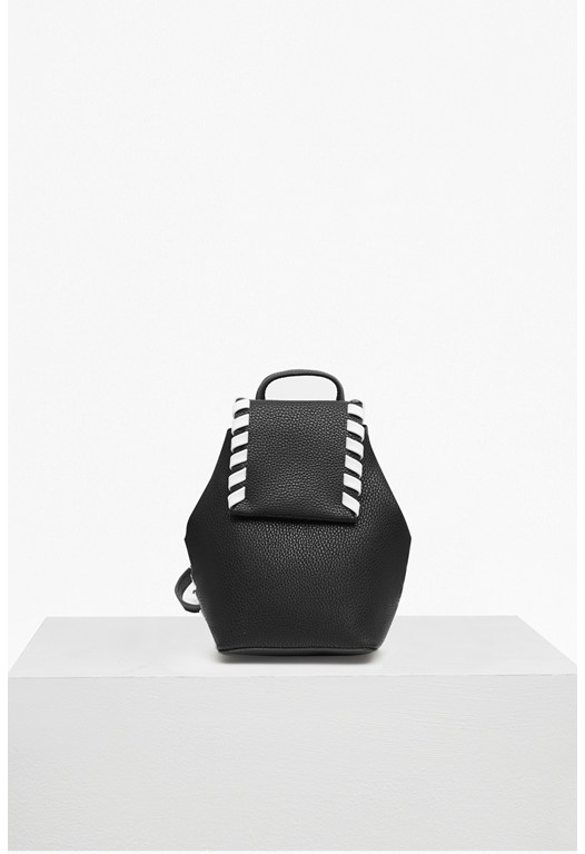 Whipstitch Mini Faux Leather Cross Body Backpack