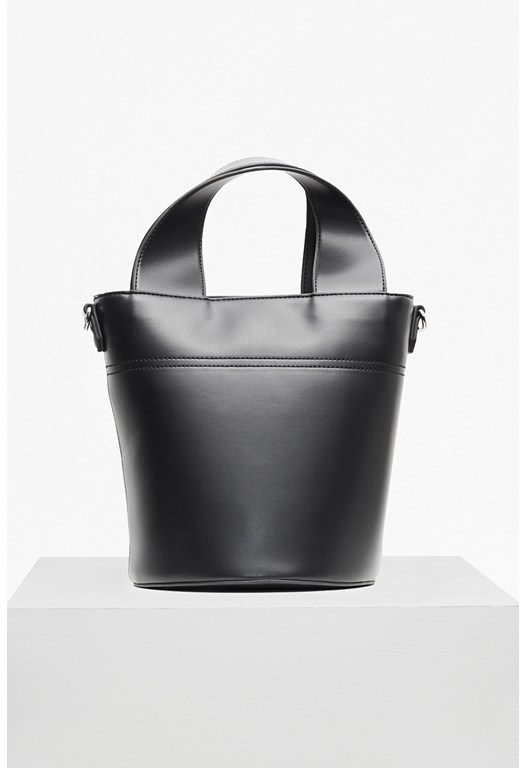 Wide Strap Embroidered Bucket Bag
