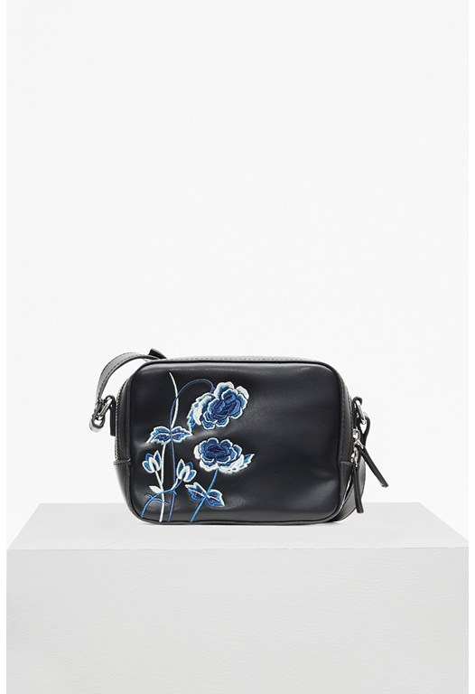 Poppy Embroidered Camera Bag