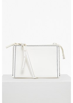Stab Stitch Faux Leather Cross Body Bag