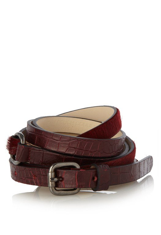 Croc & Pony Wrap Waisted Leather Belt