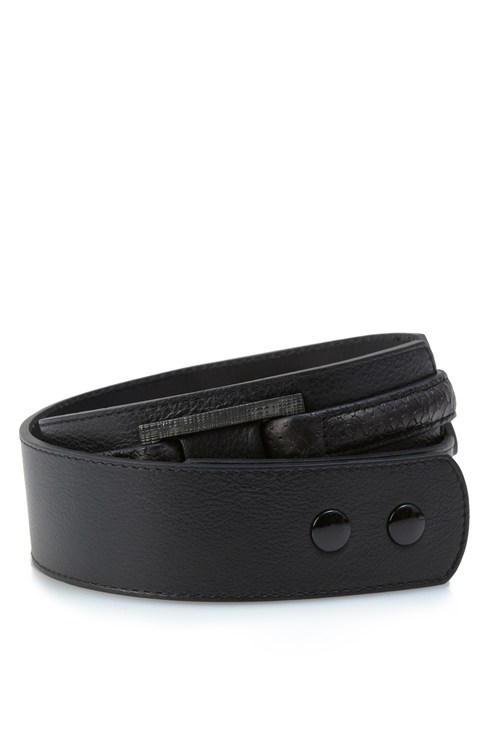 Oxy Leather Waisted Belt