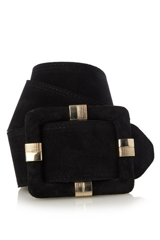 Wrapped Buckle Waisted Leather Belt
