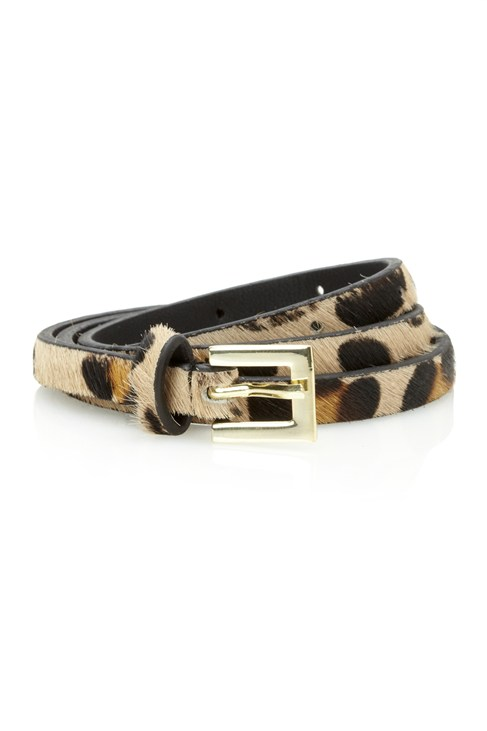 Winter Leopard Large Print Belt
