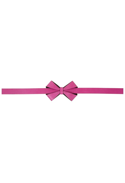 Leather Beauty Bow Belt