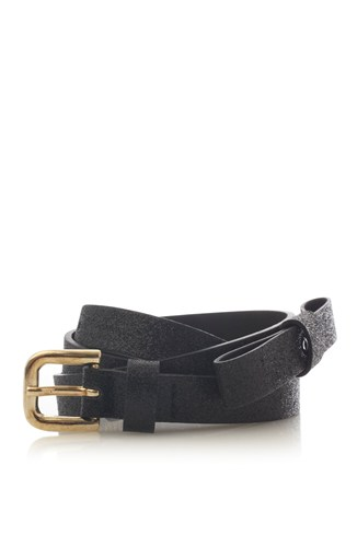 Metallic Bow Belt