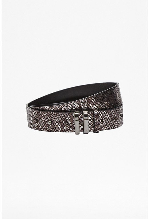 Pony Skin Effect Leather Belt