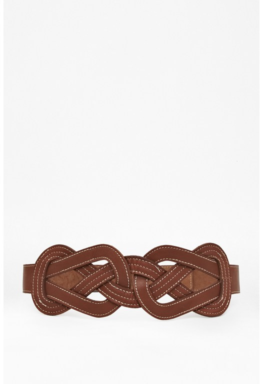 Track Stitch Leather Belt
