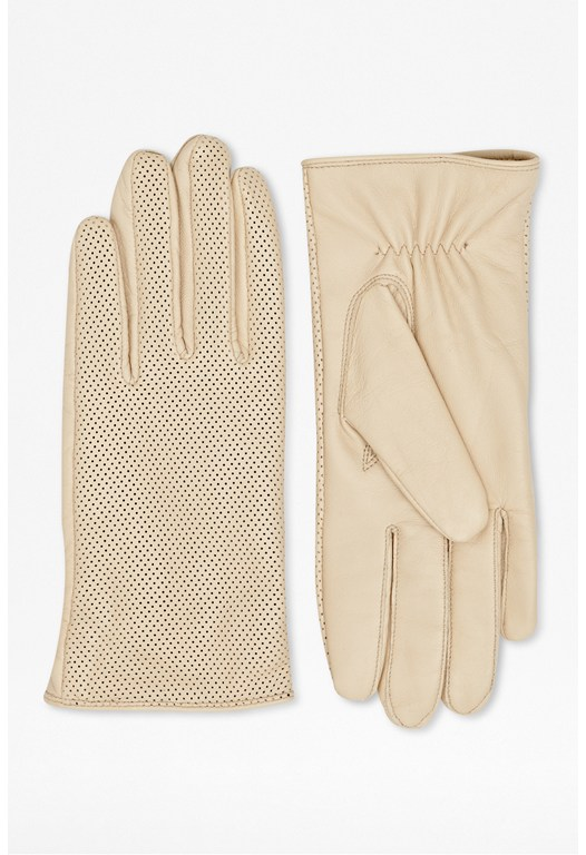 Perforated Leather Gloves