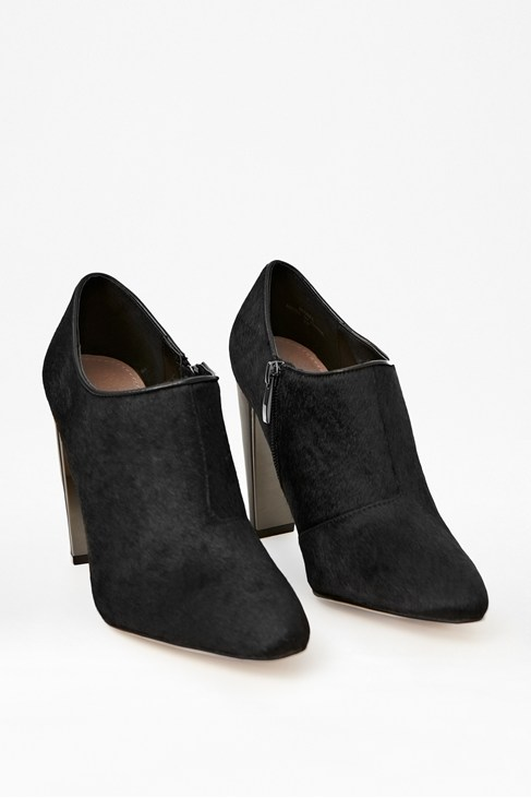 styling up mabel pony hair leather shoe boots black
