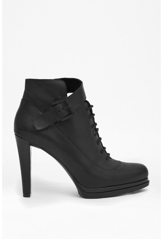 Sasha Lace-Up Leather Ankle Boots