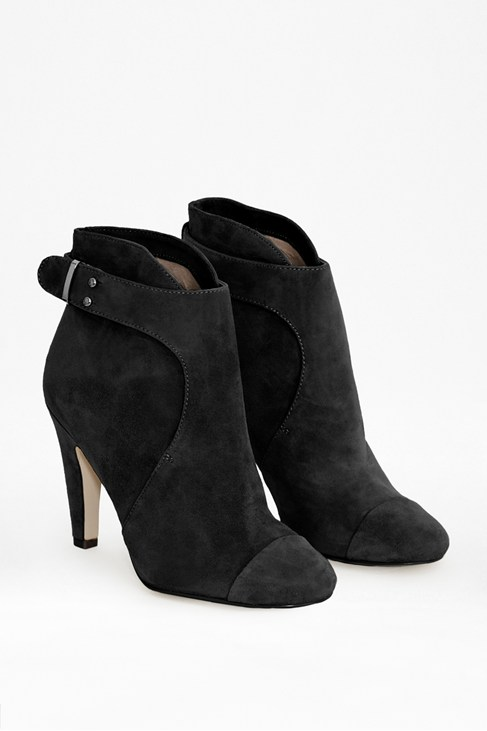Rosa Suede Heel Ankle Boots, Black