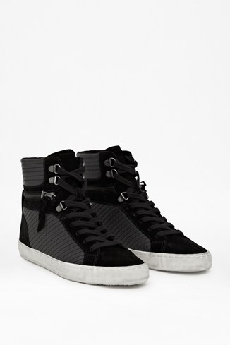 Lodlow Zipped Leather Trainers