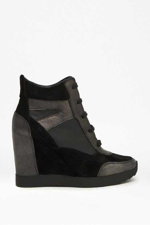 Melanie Leather Wedge Trainers