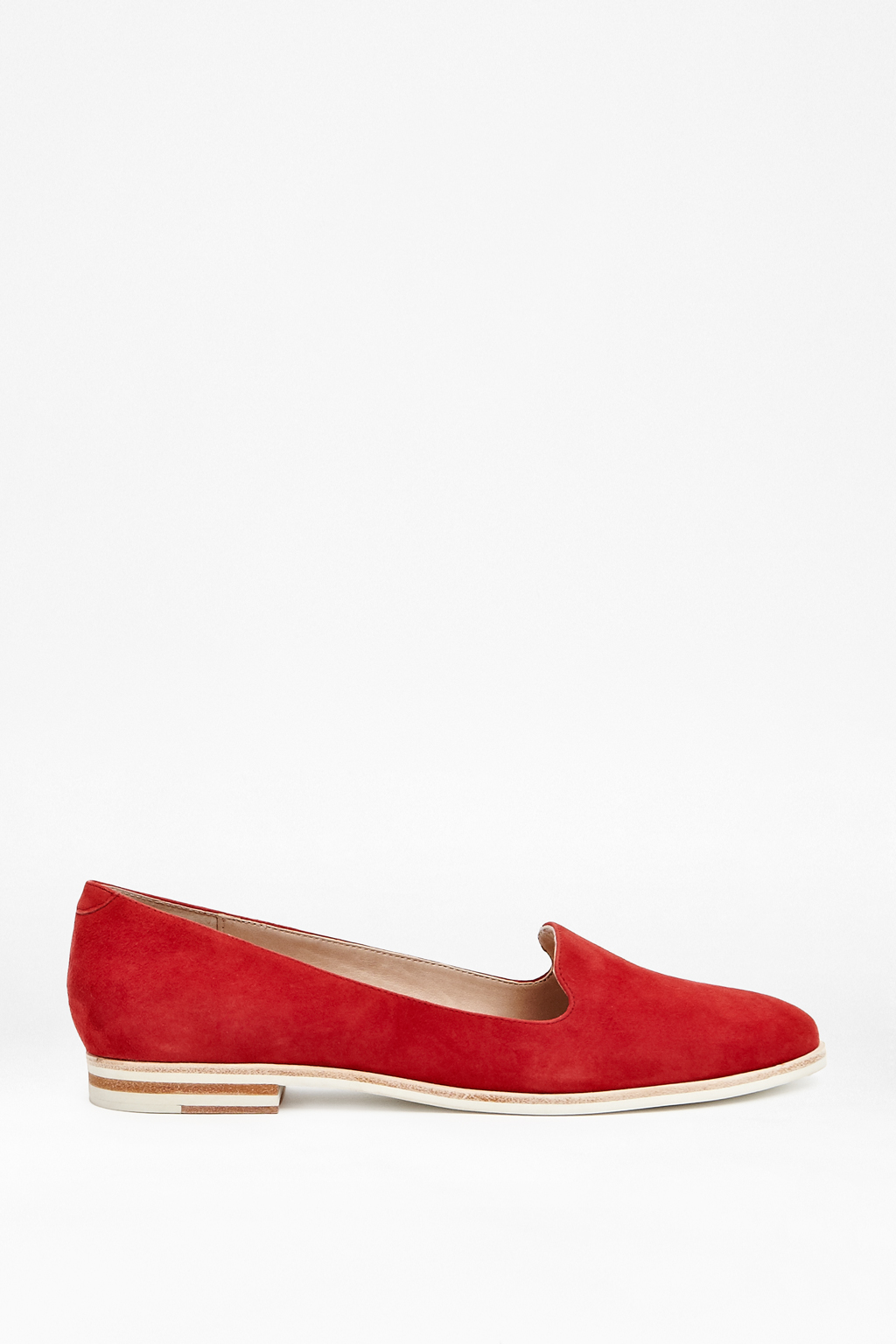 Red Damini Suede Moccasin Shoe