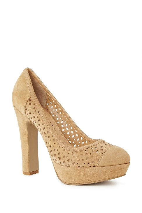 Robin Suede Cut-Out Pumps