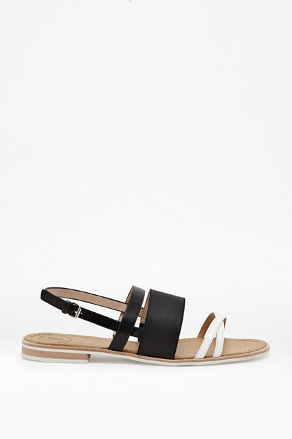 Hallie Two-Tone Sandals