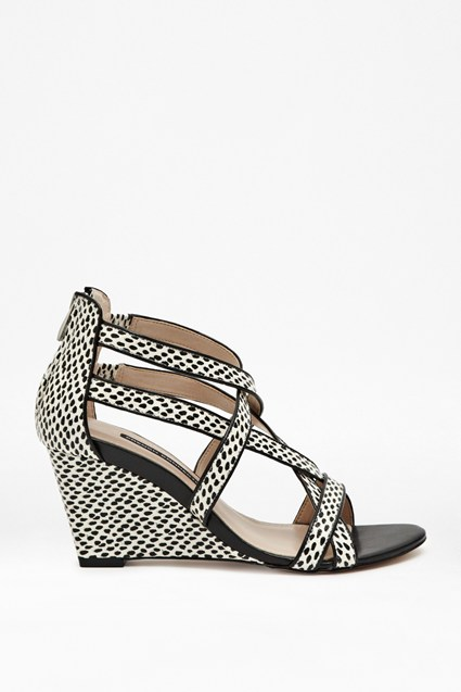 Ulie Leather Printed Wedges
