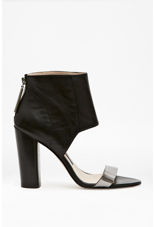 Penny Leather Ankle Strap Heels