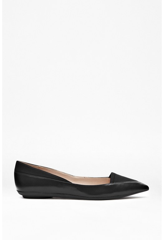Doris Contrast Leather Flats
