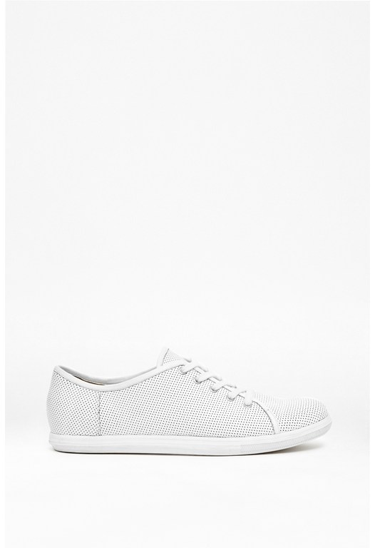Finley Leather Plimsolls
