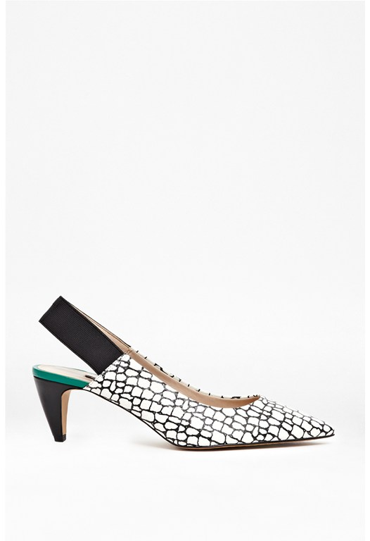 Kourtney Turtle Print Kitten Heels