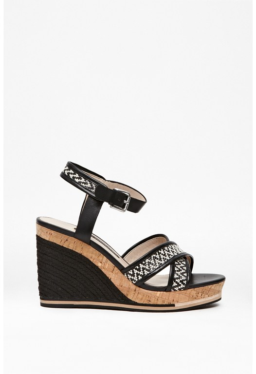 Lata Leather Rope Wedges