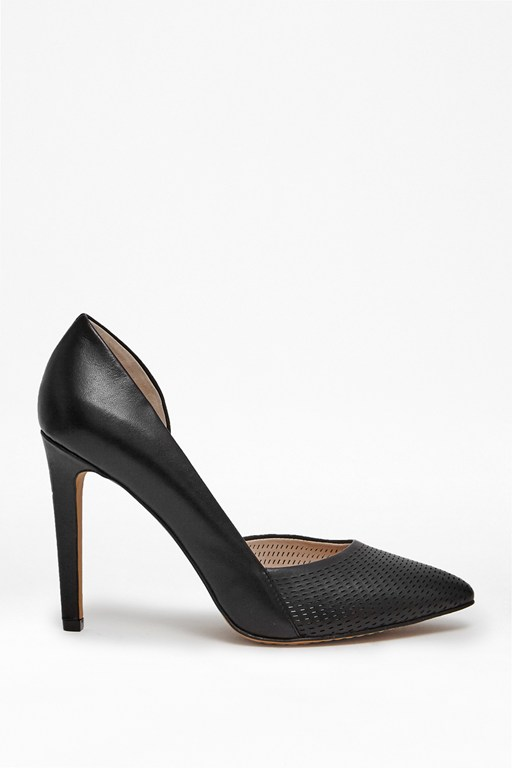 Complete the Look Mabel Mesh Leather Heels