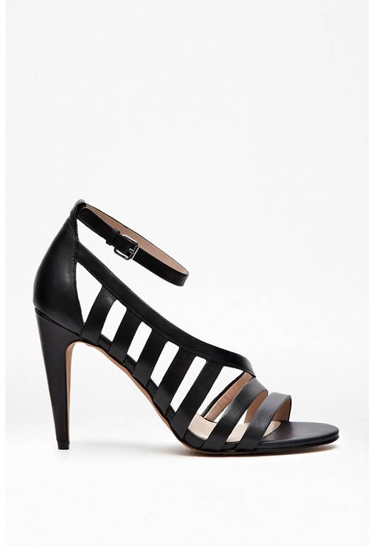 Nayden Cut Out Leather Heels
