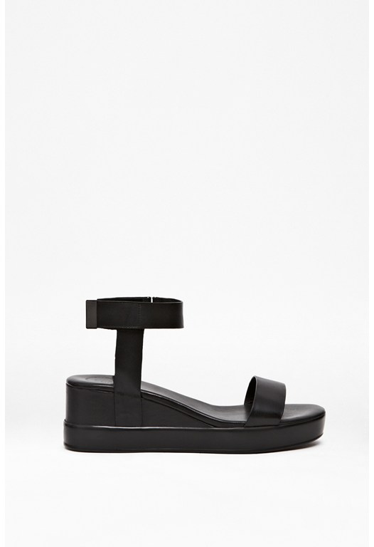 Petja Leather Platform Sandals