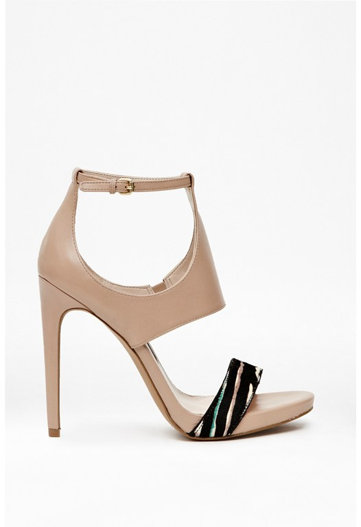 Veanita Cut-Out Leather Heels