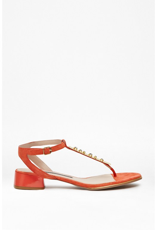 Cole Embellished T-Bar Sandals