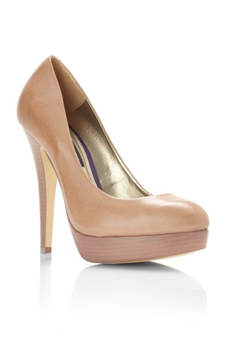 Platform Court Shoe Nude