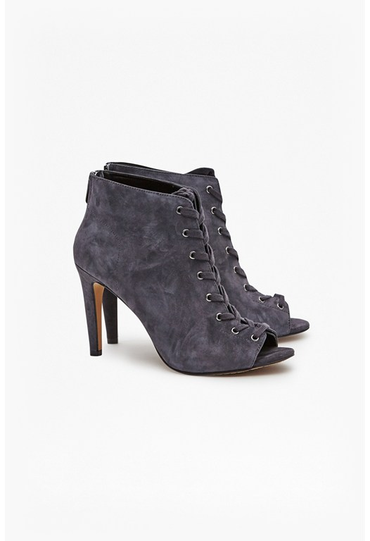 Quillian Suede Lace Up Heels