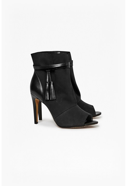 Quinby Peep Toe Ankle Boot