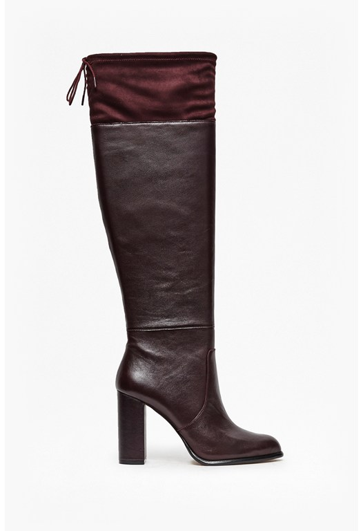 Calina Heeled Leather Boots