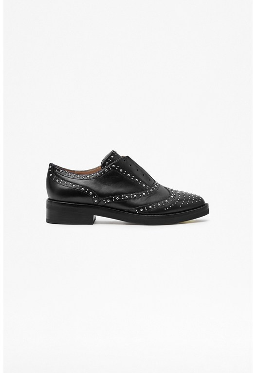 Marissa Embellished Leather Brogues