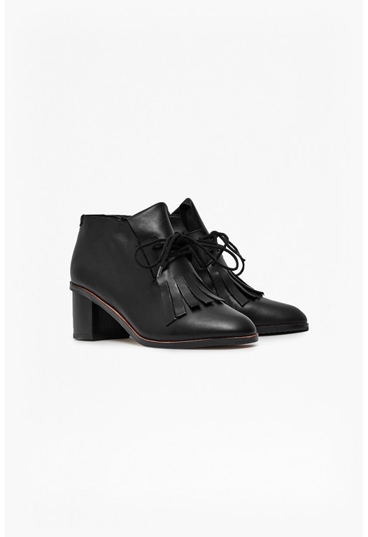 Clair Fringe Ankle Boots