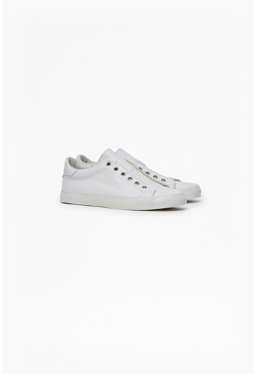 Eyelet Leather Trainers