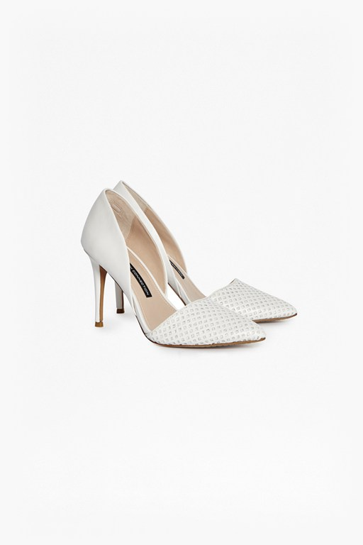 Complete the Look Elvia Perforated Leather Heels