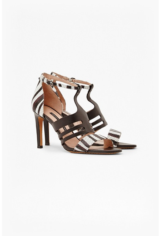 Lia Snake Caged Strappy Sandals