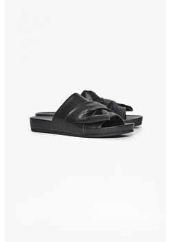 Shida Bow Leather Sliders