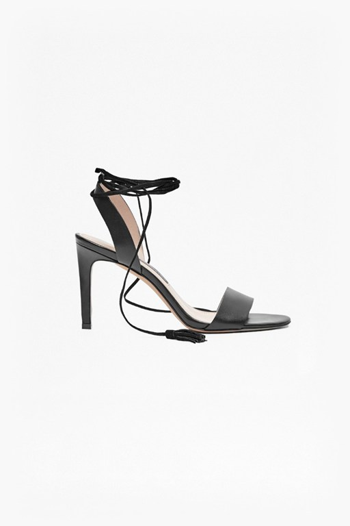 Complete the Look Liesel Lace Up Heeled Leather Sandals