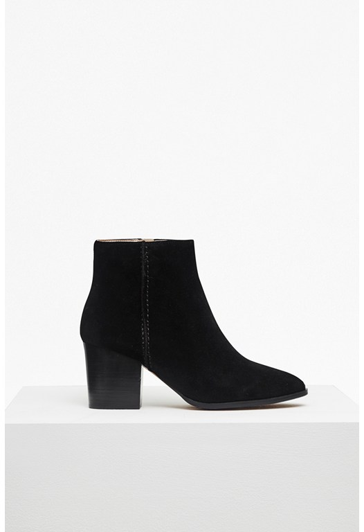 Banji Heeled Suede Ankle Boots
